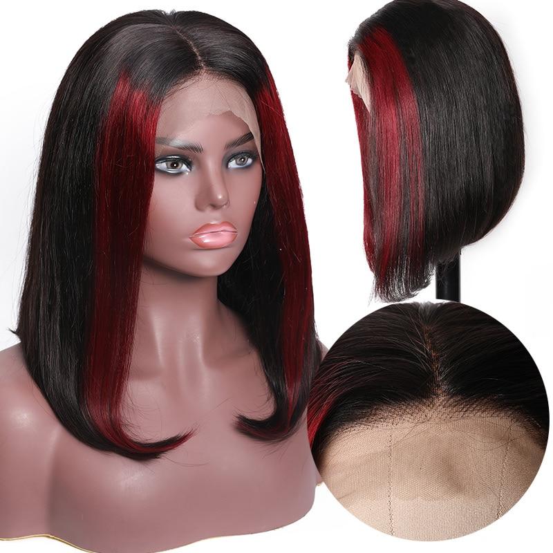 Nadula Straight Hair Highlights Colored Wig Human Hair Wig