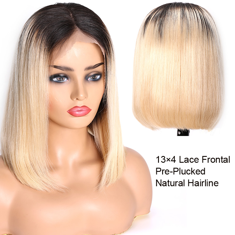 Ombre Straight Frontal Wig