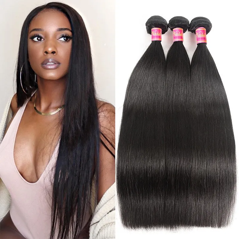 Nadula Affordable Brazilian Hair 3 Bundles Unprocessed Virgin Brazilian Straight Hair Weave Human Hair