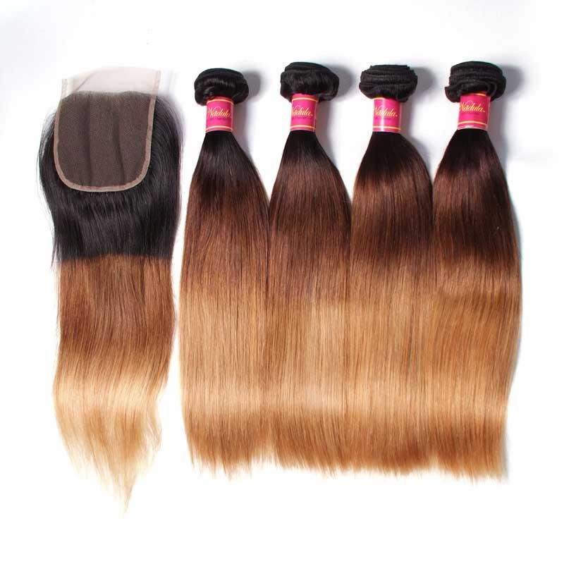 4pcs Hair Bundles With Lace Closure