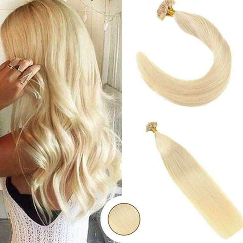 Nadula Brazilian Remy Human Hair Extensions 50G Straight Nail U Tip Fusion Hair Extensions #613
