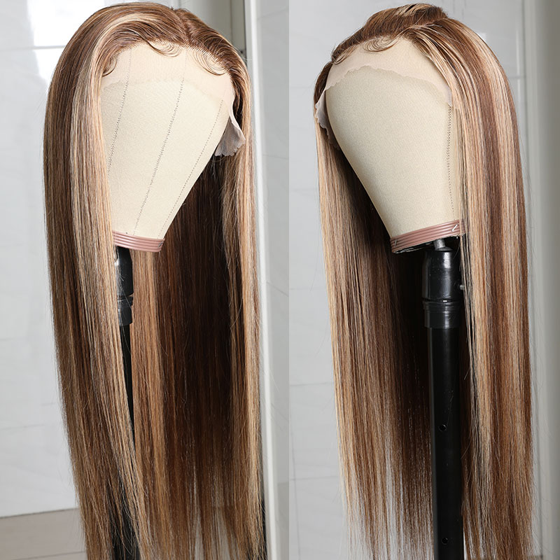 TL412 Brown Color Lace Wigs 150% Density