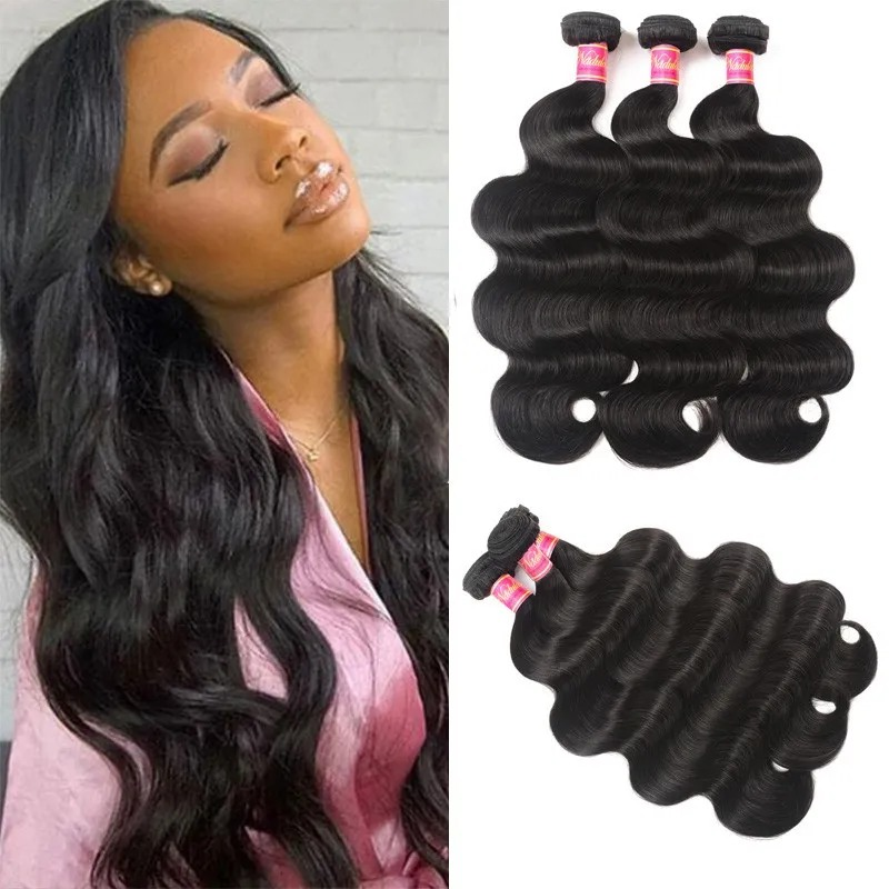 Nadula Body Wave Hair 3 Bundles Deals 16 18 20 Inch High Quality Hair Weave Flash Deal