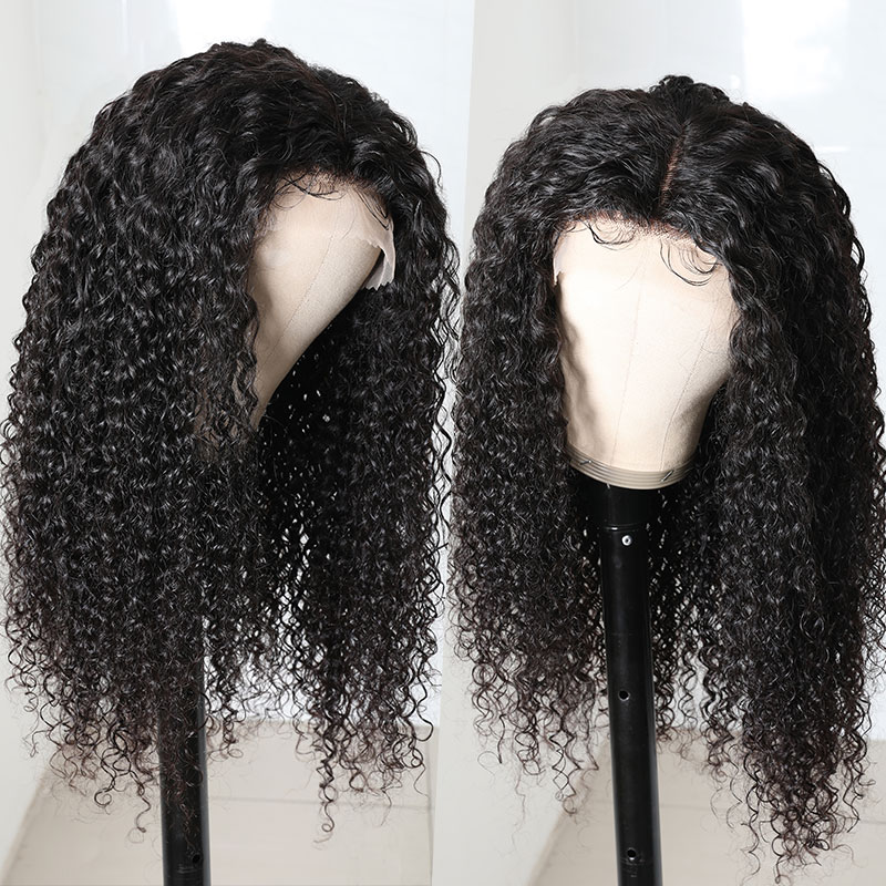 150% Density Curly Hair Wigs With Baby Hair