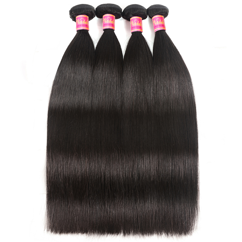 Nadula High Quality Brazilian 4 Pcs Straight Virgin Hair Weave