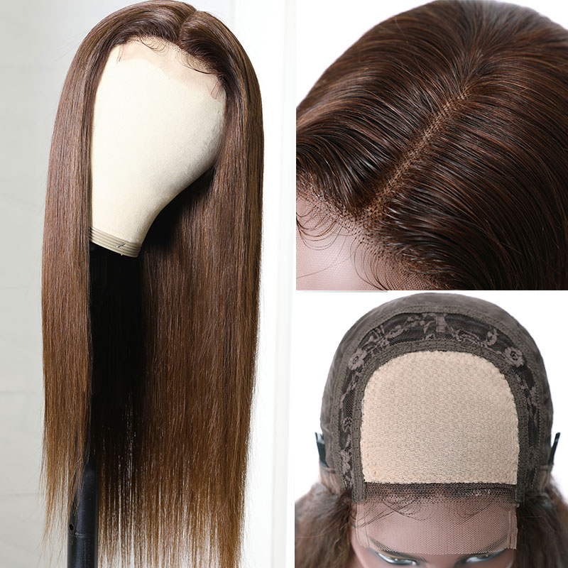 Middle Part Straight Hair Wigs
