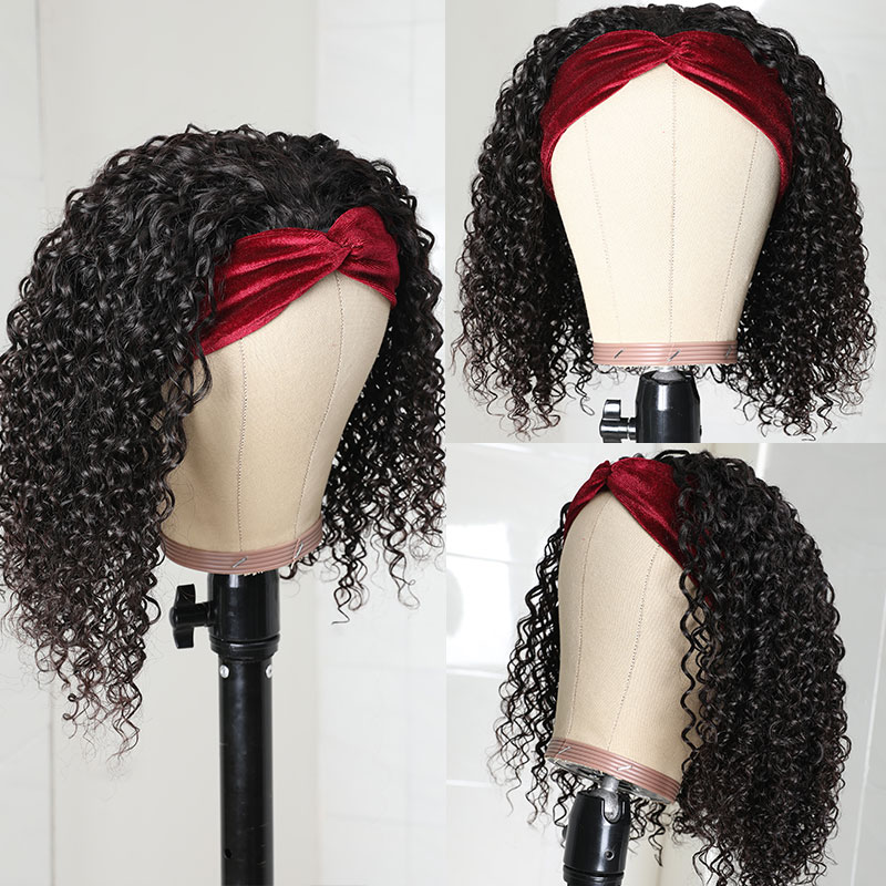 Short Curly Wigs 150% Density
