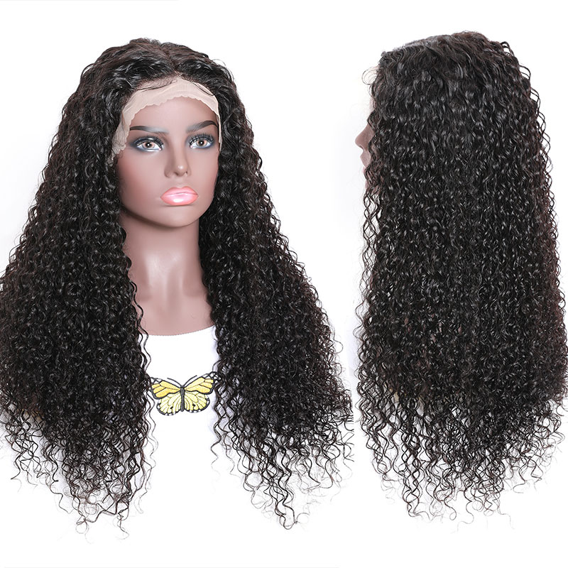 Middle Part Fake Scalp WIgs Human Hair