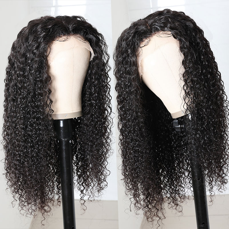 T Part Human Hair Hand Tied Lace Wigs