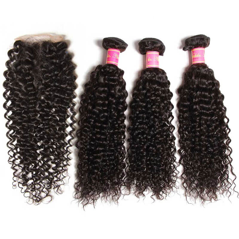 curly hair with closure