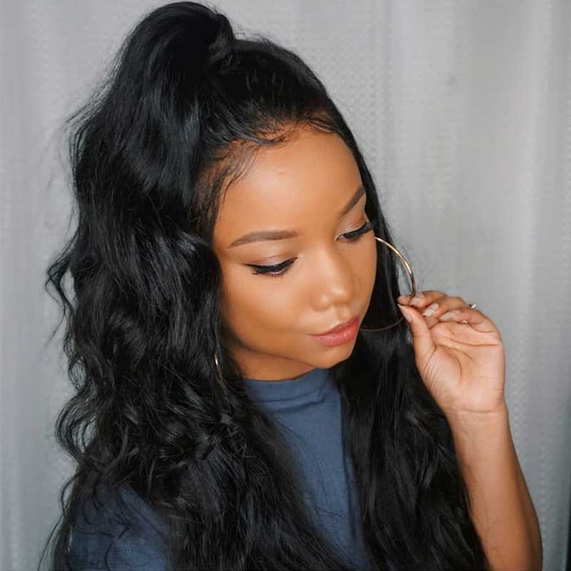 Nadula Lace Front Human Hair Wigs With Baby Hair Long Body Wave 8 ... e376c4522724