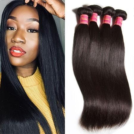 Nadula Soft Virgin Brazilian Straight Hair Weave 4 Bundles Cheap Brazilian  Virgin Straight Human Hair Extensions  449a48e4bad0