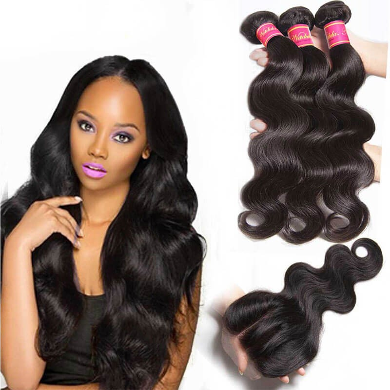 Body Wave Virgin Hair Weave 3 Bundles With Lace Closure Nadula Best ... 0dbf4b116250
