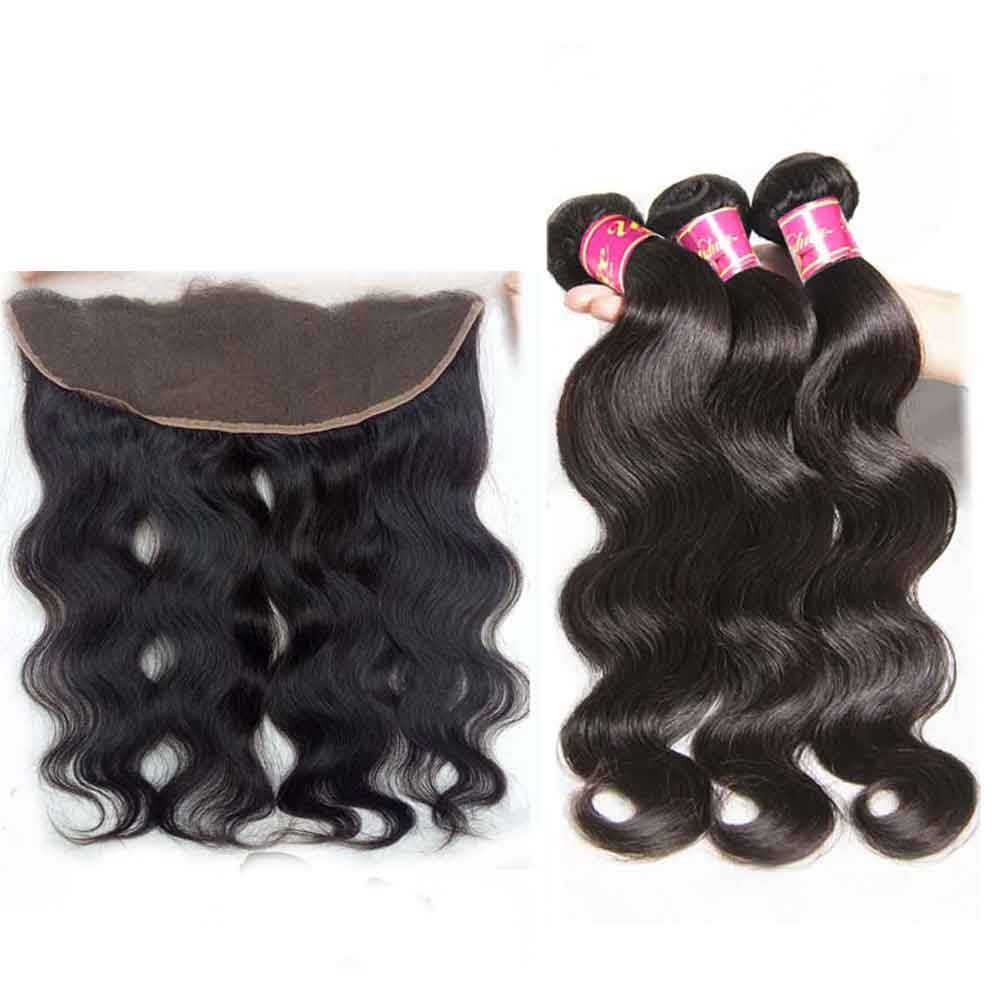 Nadula Wholesale Human Hair Weave Body Wave Virgin Hair 3 Bundles With Lace  Frontal Closure 13x4  541ec2e7ff0a