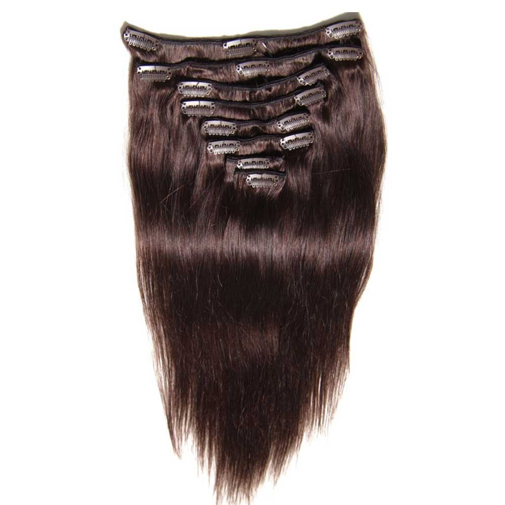 Nadula Good Feedback Thick 100 Human Hair Extensions Clip In For