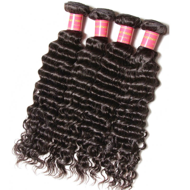 Nadula 4 Bundles Virgin Brazilian Deep Wave Soft Brazilian Virgin