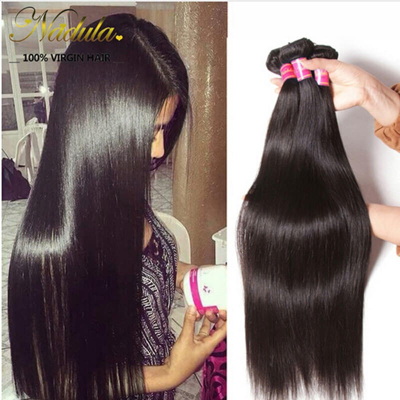 Nadula Cheap Brazilian Hair Bundles 4 Pcs Soft Virgin Brazilian Hair