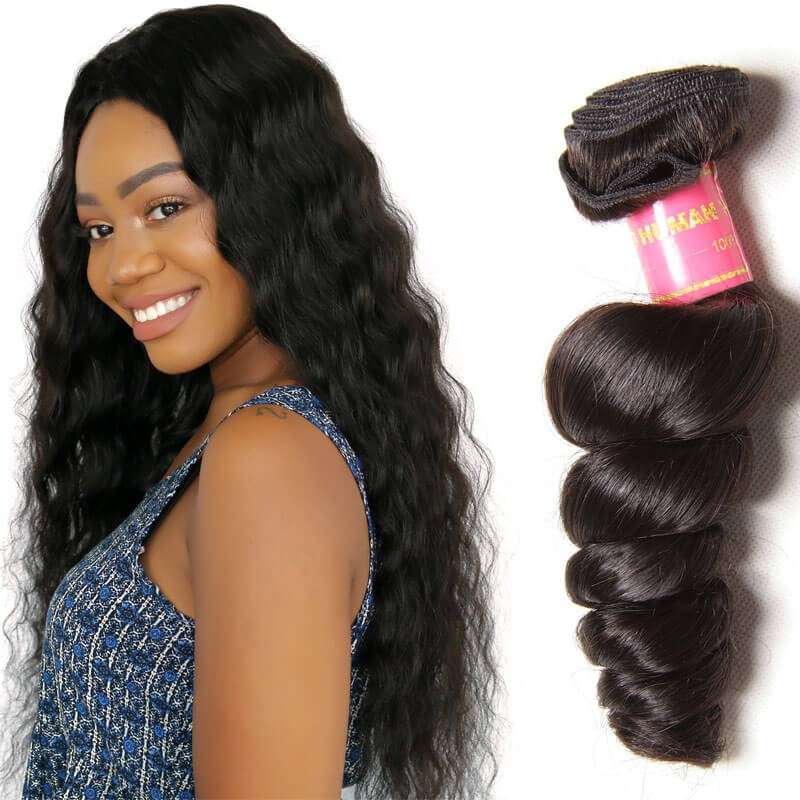 Nadula Soft Virgin Brazilian Loose Wave Hair 1 Bundle Brazilian ...