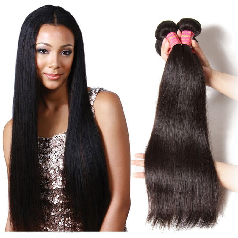 Nadula Wholesale Best Indian Straight Hair Weave 3 Bundles Real Long