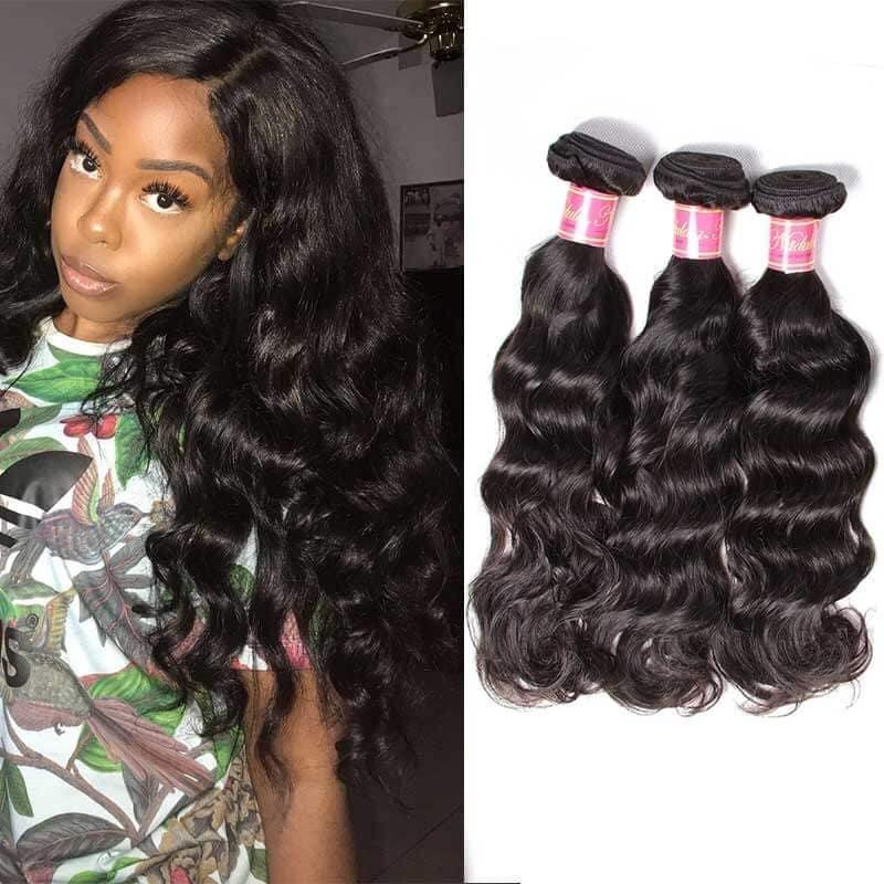 Nadula Cheap Brazilian Virgin Hair 3 Bundles Natural Wave Real Brazilian  Virgin Human Hair Weave Deal  d6ea656a5b6b