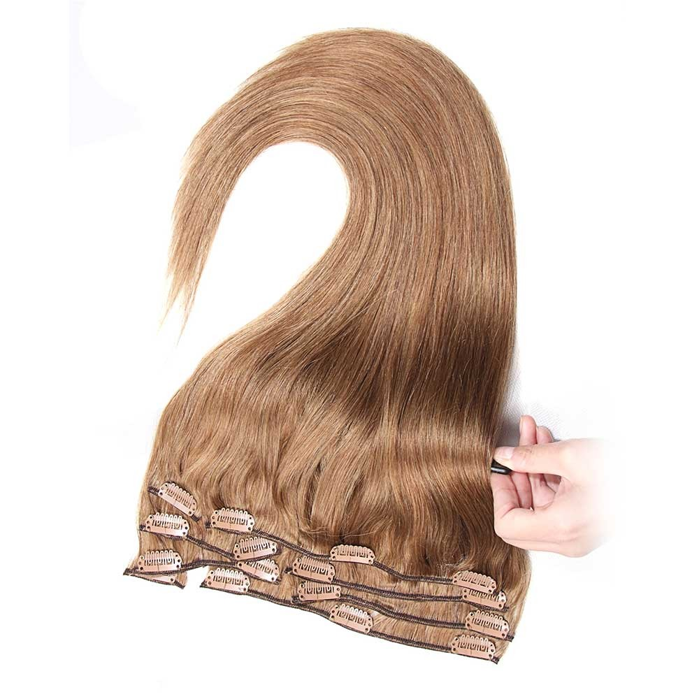 Nadula Wholesale Remy Indian Human Hair Extensions Clip In For