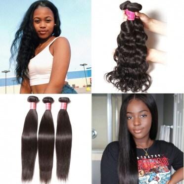 Nadula Best Virgin Brazilian Hair Straight Weave Natural Wave 3 Bundles Straight 16 18 20 Flash Deal