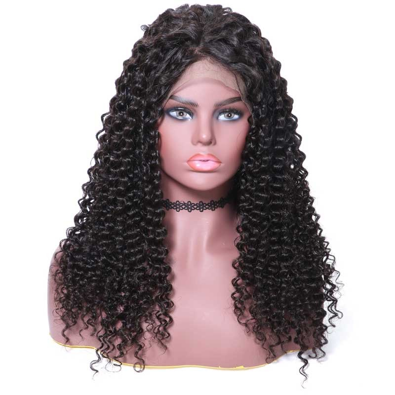 Nadula Real Lace Front Remy Human Hair Wigs Curly Virgin Hair 360 lace Wig 180% Density Natural Color