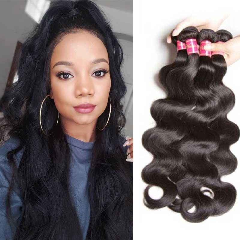 Nadula Soft Brazilian Virgin Hair Body Wave 4 Bundles Natural Human Hair Weave For Sale
