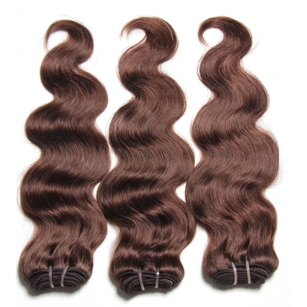 Nadula Wholesale Indian Virgin Hair Body Wave #2 Real Quality Human Hair Extensions
