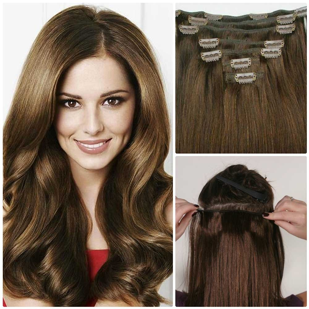 Nadula Affordable Real Remy Human Hair Extensions Clip In Full Head