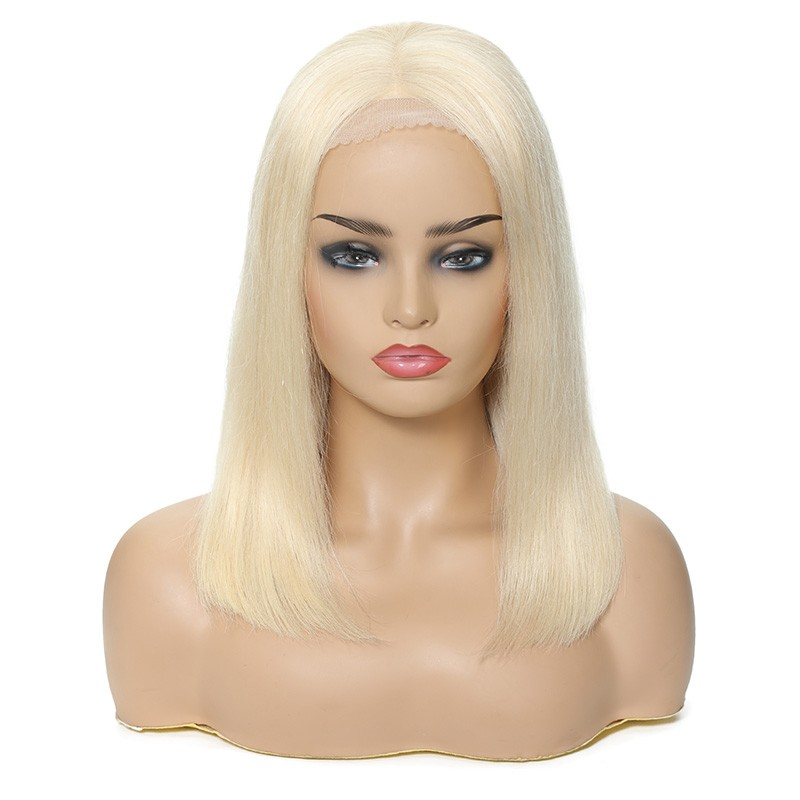 Nadula 613 Color Blonde Remy Straight Wig Hot Bob 100% Human Hair 150% Density Wigs