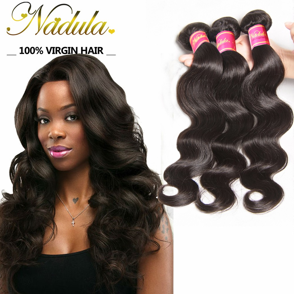 Nadula Affordable Virgin Malaysian Body Wave 3 Bundles/Lot Malaysian Virgin Remy Human Hair Weave