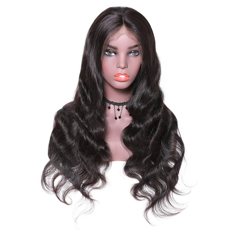 Nadula 4*4 Lace Closure Human Hair Wigs Long Body Wave With Baby Hair 150% Density Wigs