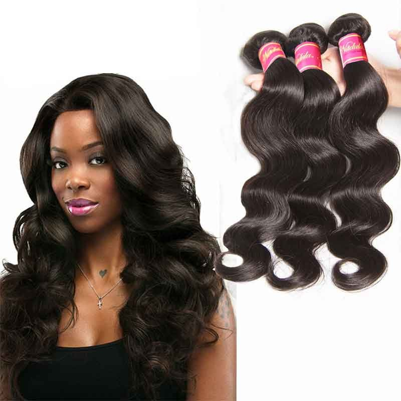 Nadula Affordable Virgin Malaysian Body Wave 3 Bundles/Lot Malaysian Virgin Remy Human Hair Weave