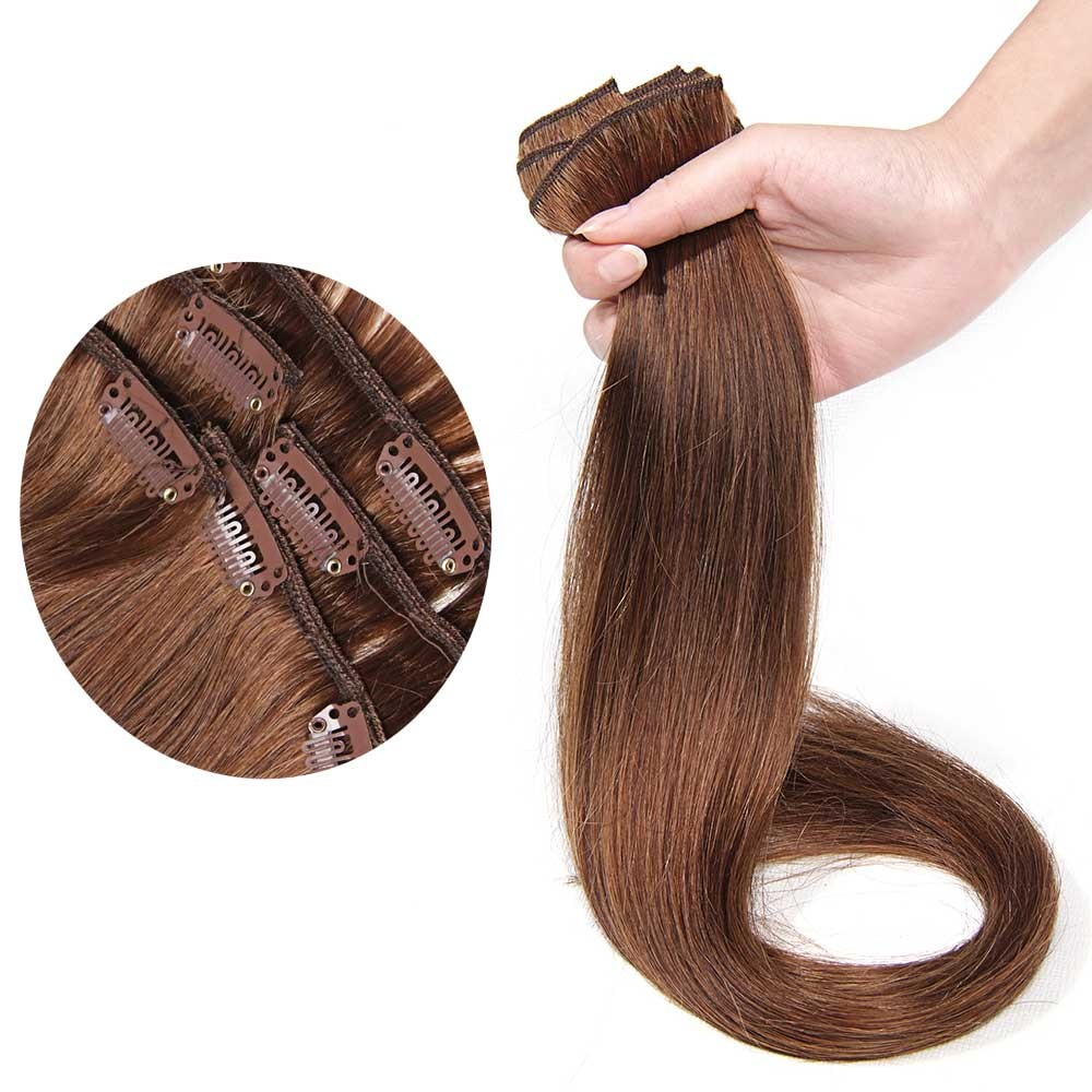 Nadula Best Indian Human Straight Clip In Hair Extensions For Thin Hair