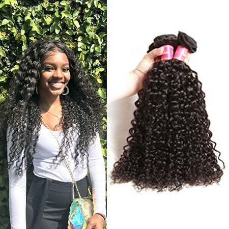 4 bundles curly hair