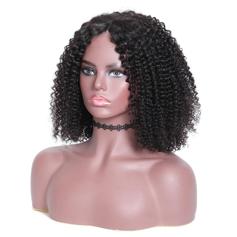 Nadula Kinky Curly 150% Short Bob Wig Lace Frontal Density Wig 100% Human Hair Super Soft