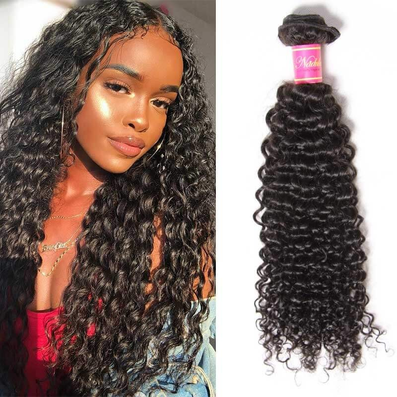 curly brazilian hair 1pcs bundle
