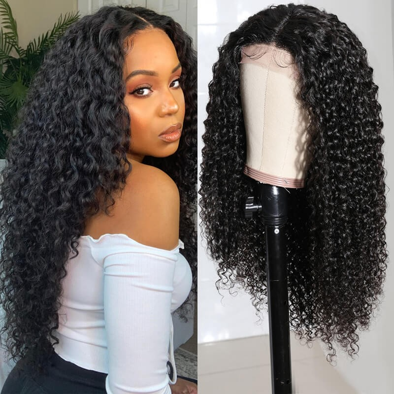 Nadula Lace Closure Wig Curly Wigs Human Hair Wigs With Baby Hair Natural Hairline