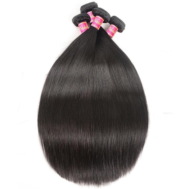 Nadula 4 Pcs Indian Straight Hair Weave Bundles