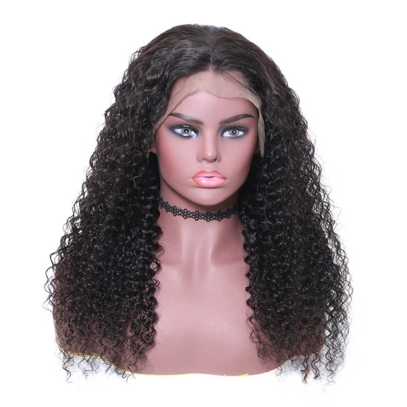 Nadula Natural Color Lace Frontal Wigs Jerry Curly Virgin 150% Density Remy Virgin Human Hair