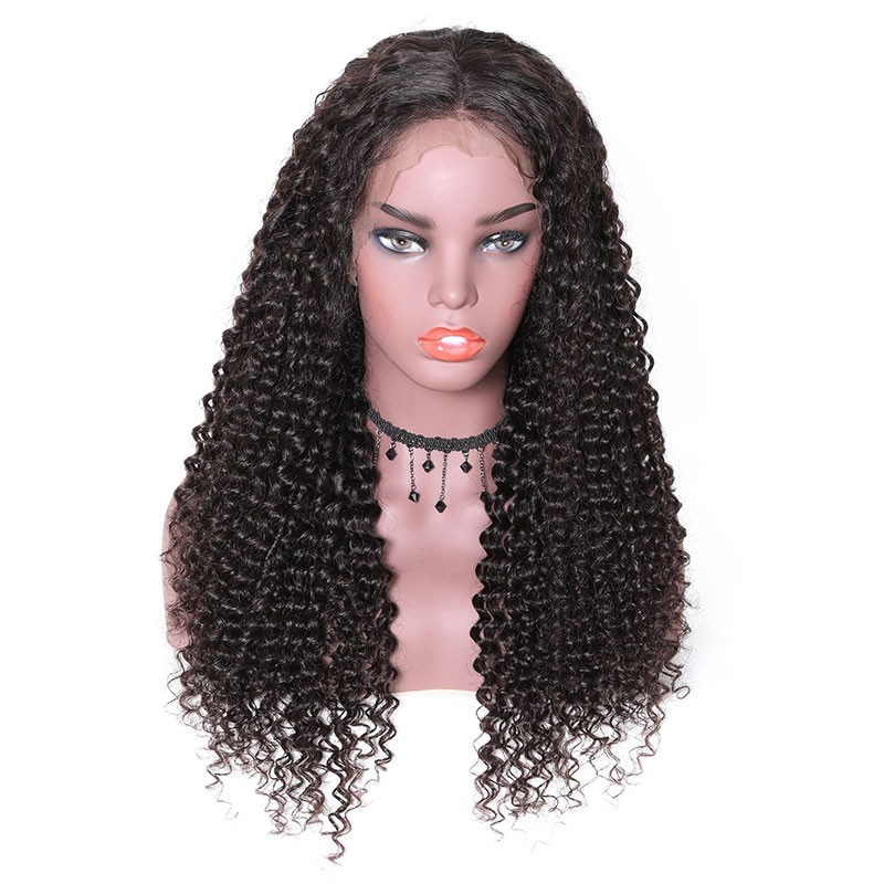 Nadula Natural Long Jerry Curly 13*4 Lace Front Wigs High Quality 100% Human Hair 130% Density