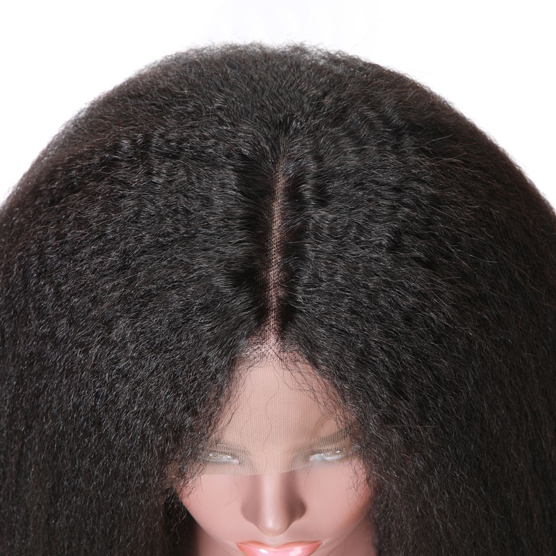 Nadula High Quality 360 Lace Frontal Kinky Straight 100% Remy Human Hair Wigs 150% Density