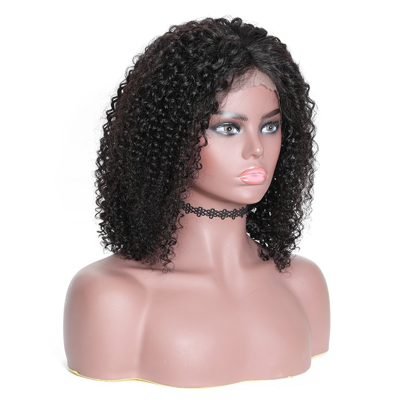Nadula Short Bob Wig Lace Frontal 180% Density Wig Jerry Curly 100% Human Hair Super Soft