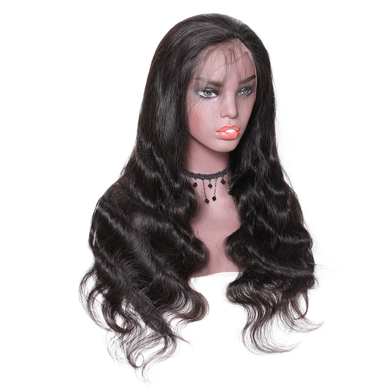Nadula 4*4 Lace Closure Human Hair Wigs Long Body Wave With Baby Hair 180% Density Wigs