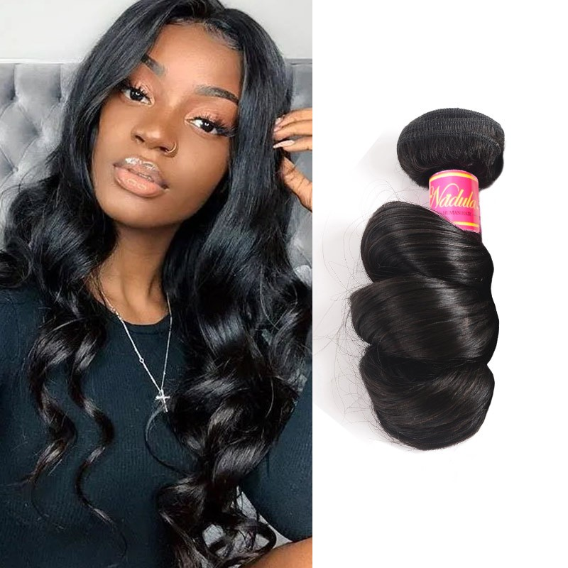 Nadula Soft Virgin Brazilian Loose Wave Hair 1 Bundle Brazilian Human Hair Weave