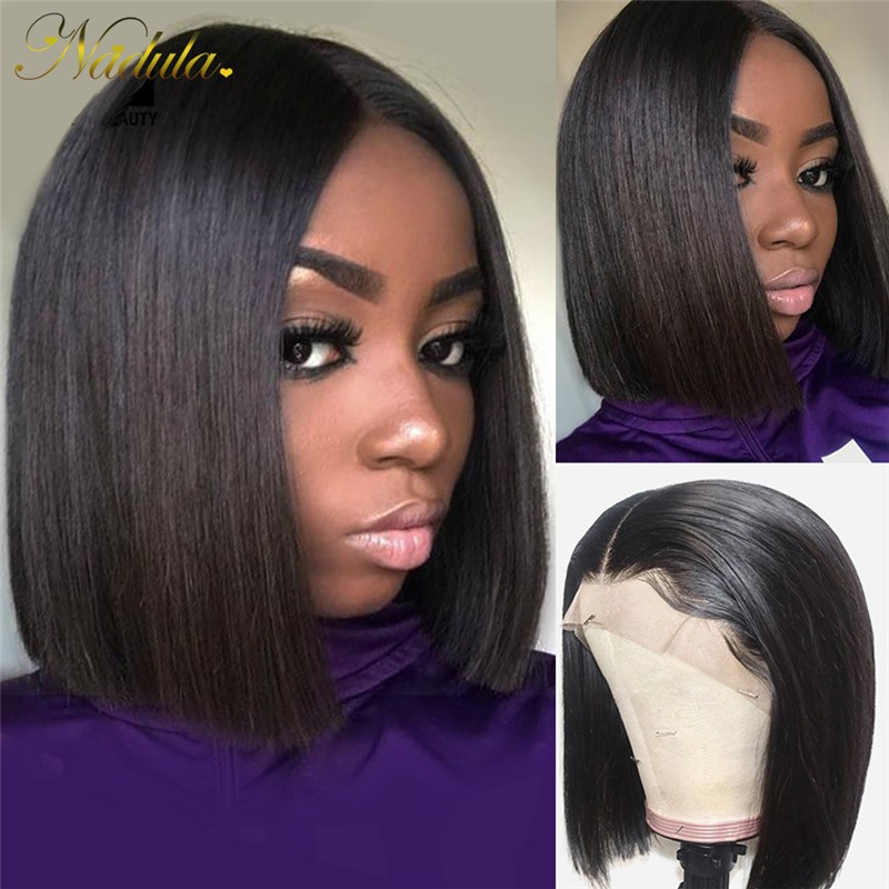 Nadula Short Straight Bob Wig 13x6 Lace Frontal 150% Density Wig Super Soft