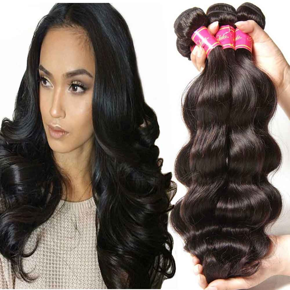 Nadula Wholesale Virgin Hair 100 Peruvian Body Wave Hair Bundles With Lace Frontal 13x4