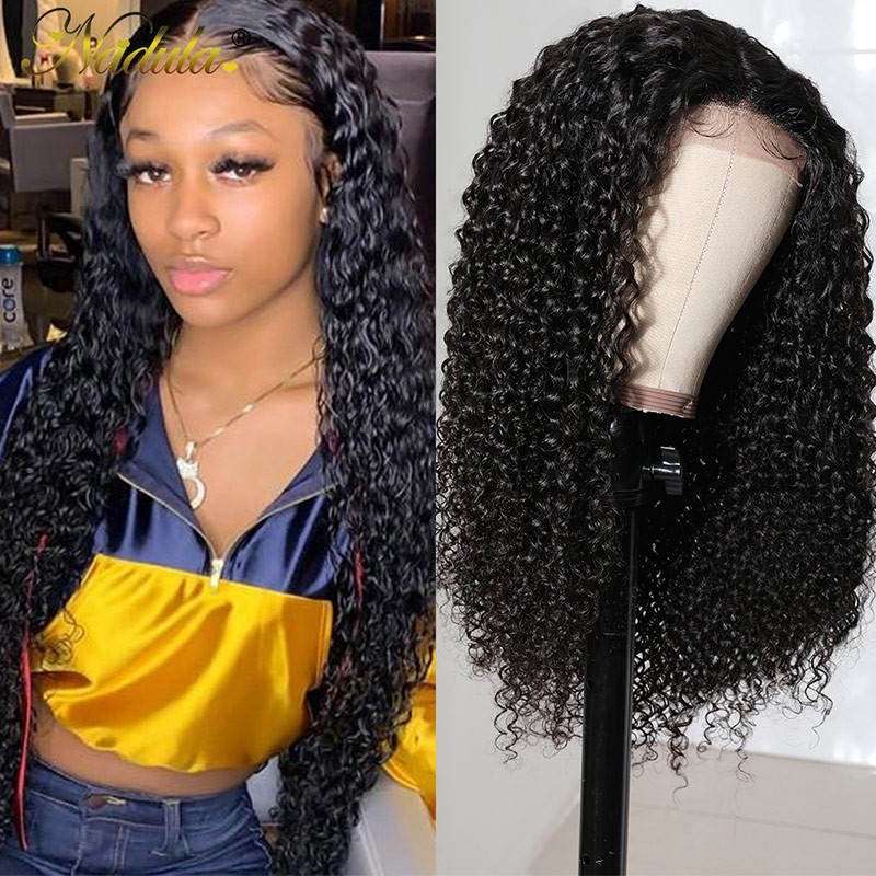 5x5 HD Lace Closure Wig 180% Density Curly Wigs With Baby Hair Natural Hairline Human Hair Wig