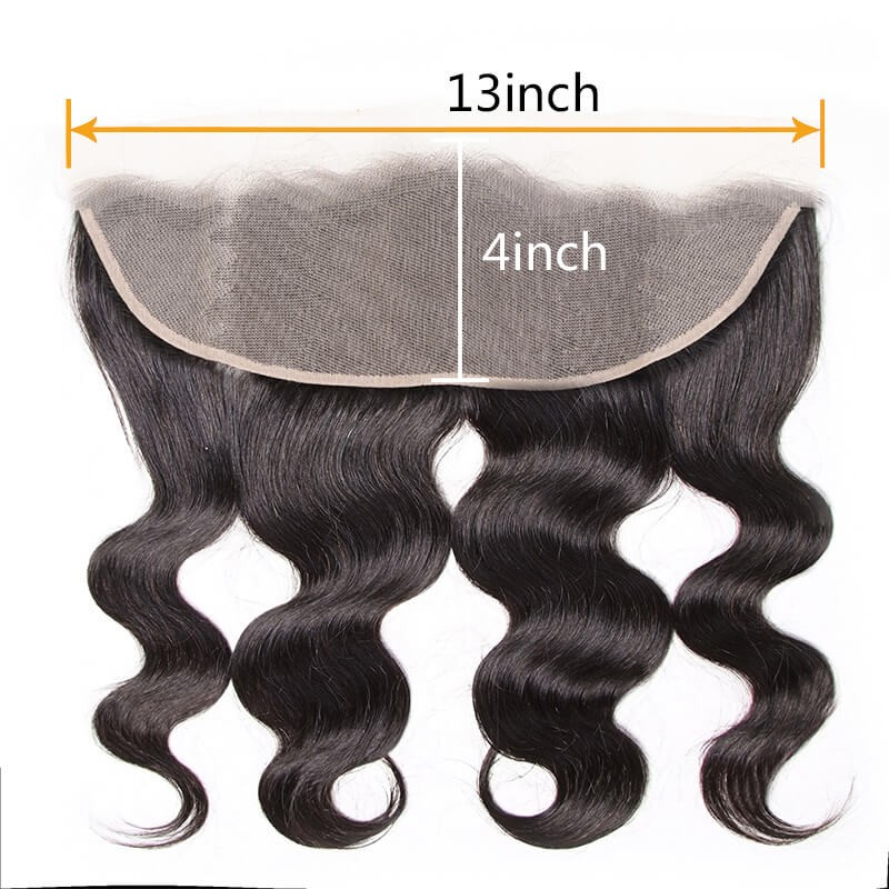 Nadula Transparent Lace Body Wave Lace Frontal Closure 13x4 Ear To Ear